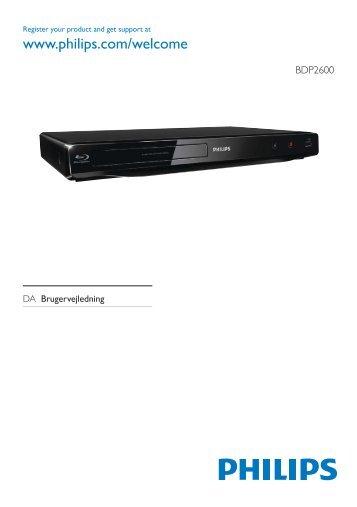 Philips Lecteur Blu-ray / DVD - Mode d'emploi - DAN