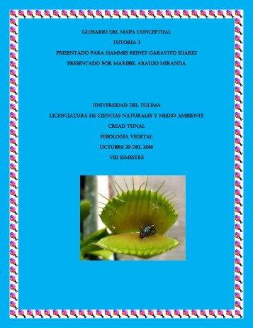 GLOSARIO DE HAMMES T3 fisiología