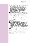 Philips Sèche-cheveux - Mode d'emploi - ENG - Page 5