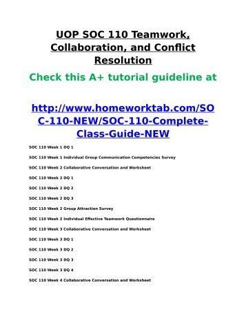 soc 114 conflict resolution worksheet The 126 wellness worksheets in this package are designed to help students   chapter 11 toward a tobacco-free society  55  114 checklist for preventing  unintentional injuries 115 driving like a pro  a stop-smoking program or a  stress-management workshop:  financial conflicts with friends or fellow  workers.