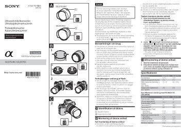 Sony SEL057FEC - SEL057FEC Istruzioni per l'uso Danese
