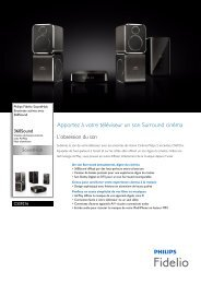 Philips Fidelio SoundHub Enceintes actives - Fiche Produit - FRA