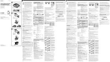 Sony AC-SQ950D - AC-SQ950D Istruzioni per l'uso Olandese