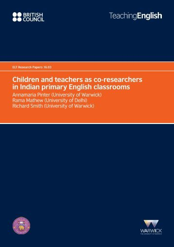 Children and teachers as co-researchers in Indian primary English classrooms