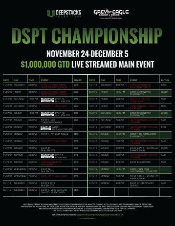 $1,000,000 GTD LIVE STREAMED MAIN EVENT