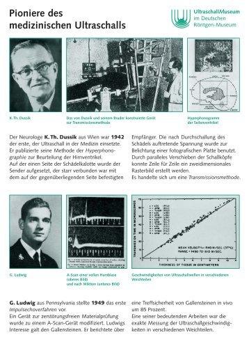 Pioniere des medizinischen Ultraschalls - Ultraschallmuseum