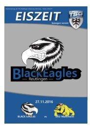 Heimspiel_Black Eagles Reutlingen vs EKU Mannheim 27.11.2016