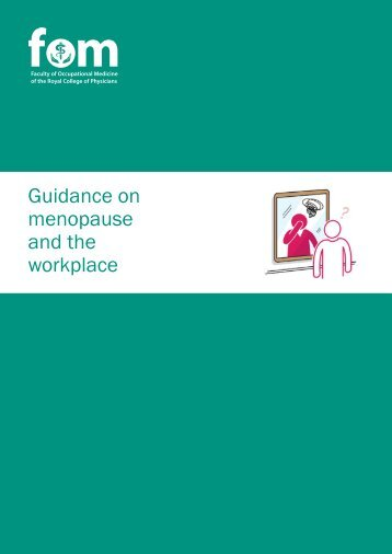 Guidance on menopause and the workplace