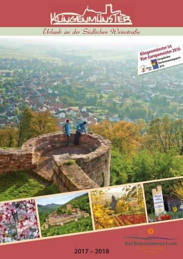 Gastgeberverzeichnis Klingenmünster 2017-2018