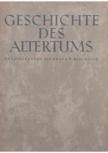 Geschichte des Altertums