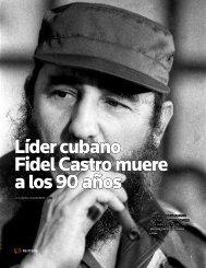 Líder cubano Fidel Castro muere a los 90 años
