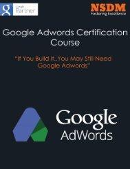 Google adwords certification course