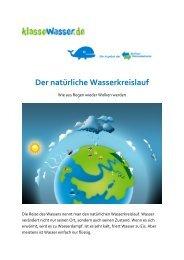 Der natürliche Wasserkreislauf - Klasse Wasser
