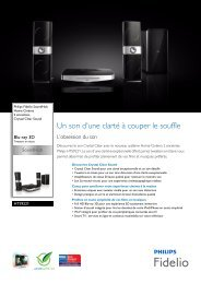 Philips Fidelio SoundHub Home Cinéma 2 enceintes - Fiche Produit - FRA
