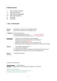 1 Inhaltsverzeichnis I Herz- Kreislauf System II ... - Pharmastudent