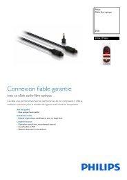 Philips Câble fibre optique - Fiche Produit - FRA