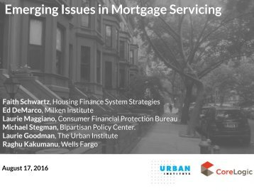 Emerging Issues in Mortgage Servicing