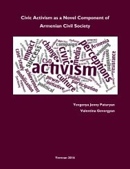 Civic Activism as a Novel Component of Armenian Civil Society