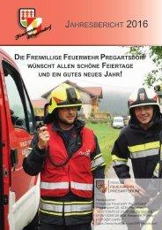 Jahresbericht FF Pregartsdorf 2016