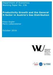 Productivity Growth and the General X-factor in Austria's Gas Distribution