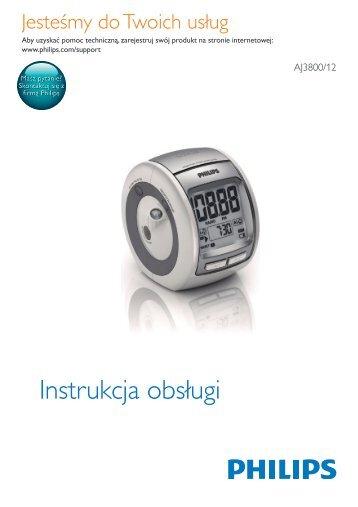 Philips Radio-réveil - Mode d'emploi - POL