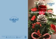 Season's Greeting from Iceland Spring Thailand