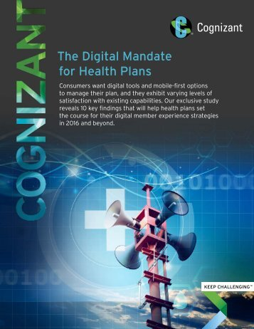The Digital Mandate for Health Plans