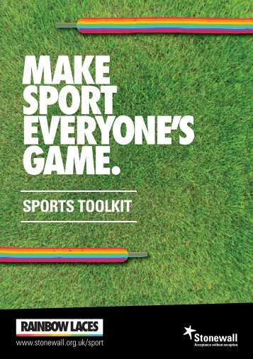 MAKE SPORT EVERYONE'S GAME