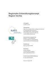 Regionales Entwicklungskonzept Region Vechta - beim Landkreis ...