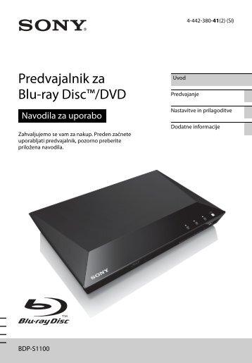 Sony BDP-S1100 - BDP-S1100 Istruzioni per l'uso Sloveno