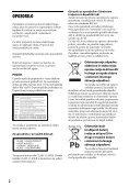 Sony BDP-S1100 - BDP-S1100 Istruzioni per l'uso Sloveno - Page 2