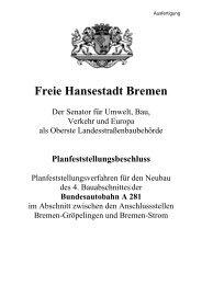 Bundesautobahn A 281 - Der Senator für Umwelt, Bau und Verkehr ...