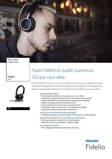 Philips Fidelio casque arceau - Fiche Produit - FRA