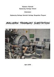 MALVERN TRAMWAY SUBSTATION