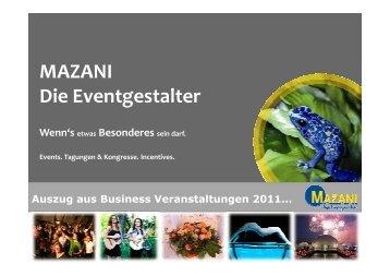 Auszug Business 2011 - Mazani Events