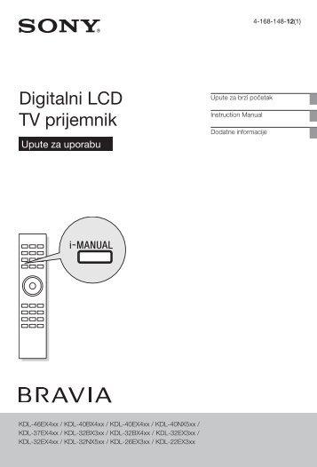 Sony KDL-37EX402 - KDL-37EX402 Istruzioni per l'uso Croato