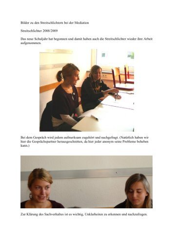 Bilder zu den Streitschlichtern bei der Mediation Streitschlichter ...