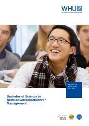 Bachelor of Science in Betriebswirtschaftslehre / Management