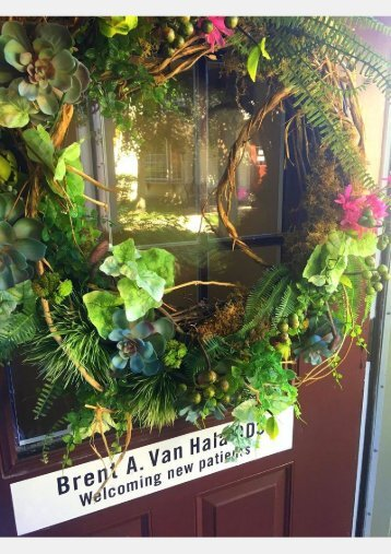 Signage of Hudson dentist Dr Brent Van Hala on the entrance door at the office of Van Hala Dental Group