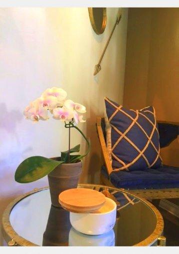 Waiting area and refreshments at Van Hala Dental Group