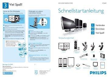 Philips Système Home Cinéma DVD - Guide de mise en route - DEU