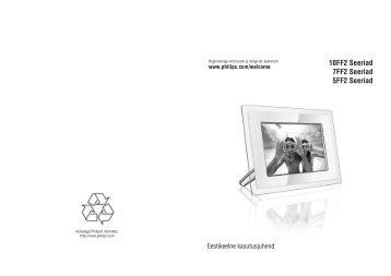 Philips Cadre Photo - Mode d'emploi - EST