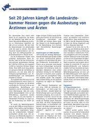 Seit 20 Jahren kämpft die Landesärzte - Marburger Bund ...