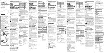 Sony ACC-TCV5 - ACC-TCV5 Istruzioni per l'uso