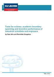 spanning and inventive performance of industrial scientists and engineers