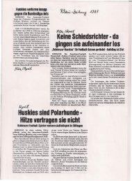 Koblenz Huskies 1987
