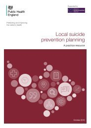 Local suicide prevention planning