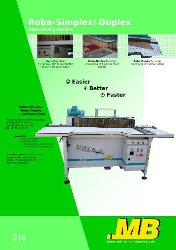 Roba-Simplex/Duplex - MB Maschinenbau