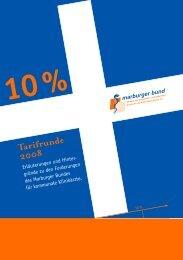 10% Tarifrunde 2008 - Marburger Bund - Landesverband Hessen