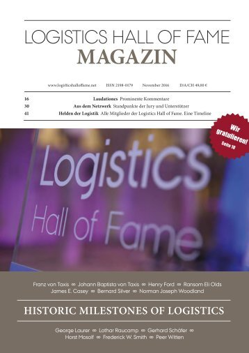 Logistics Hall of Fame Magazin 2016